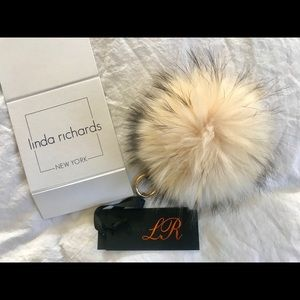 Accessories - Linda Richards genuine fur pom charm